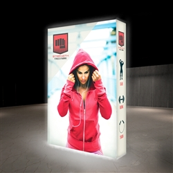 5ft X 7.5ft Lumiere Light Wall Display Double-Sided - Backlit (Graphic Package). A combination of innovative silicone-edge graphics and RPL fabric pop ups offers an easier and more cost effective SEG option.