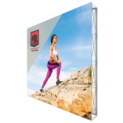 10ft X 10ft Lumiere Light Wall Display Double-Sided - No Lights (Graphic Package). A combination of innovative silicone-edge graphics and RPL fabric pop ups offers an easier and more cost effective SEG option.