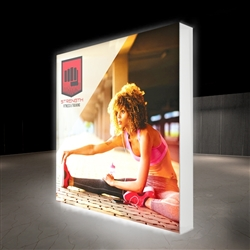 10ft X 10ft Lumiere Light Wall Display Single-Sided - Backlit - Backlit (Graphic Package) A combination of innovative silicone-edge graphics and RPL fabric pop ups offers an easier and more cost effective SEG option.