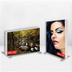 This 2ft x 2ft free-standing SEG frame comes with single-sided graphics. Perfect for trade shows, conventions, retail stores, restaurants, art galleries, grand openings, offices, showrooms & more!  Dye-sub printed on stretch fabric.  Easy to assemble.