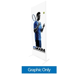 34in x 91in Econotube Fabric Single-Sided Display w/ Black Back Fabric (Graphic Only)