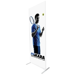 34in x 91in Econotube Fabric Single-Sided Display w/ White Back Fabric (Graphic & Hardware)