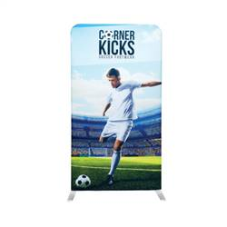 4ft x 7.5ft EZ Stand Single-Sided Display w/ Black Back Fabric (Graphic & Hardware)