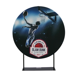 EZ Extend Circle 5ft Hardware Only | 5ft EZ Extend Circle Banner Stand | Fabric Banner Displays