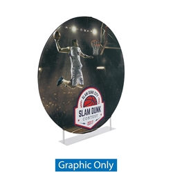 7ft EZ Extend Circle Display | Single-Sided Fabric Replacement Skin