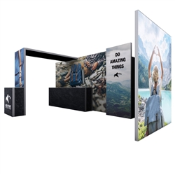 20ft x 10ft Modco Modular 2 Display. The Modco Modular Display System allows you to configure and add additional displays and features to fit your needs.