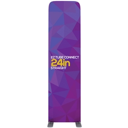 24in EZ Tube Connect Straight Top Single-Sided Display (Graphic & Hardware)