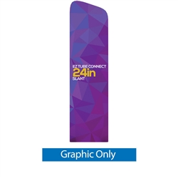 24in EZ Tube Connect Slanted Top Single-Sided Display (Graphic Only)