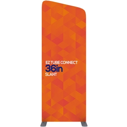 36in EZ Tube Connect Slanted Top Double-Sided Display (Graphic & Hardware)