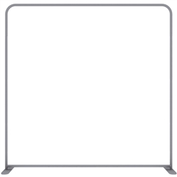8ft EZ Tube Connect Straight Top Single-Sided Display (Hardware Only)