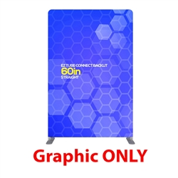 60in x 90in EZ Tube Connect Backlit Straight Top Single-Sided (Graphic Only)