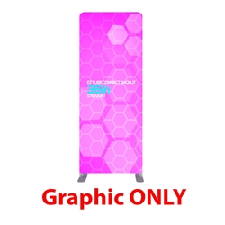 36in x 90in EZ Tube Connect Backlit Straight Top Single-Sided (Graphic Only)