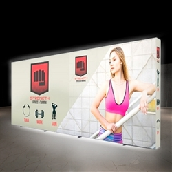 10ft X 20ft Lumiere Light Wall Display Single-Sided - Backlit - Backlit (Graphic Package) A combination of innovative silicone-edge graphics and RPL fabric pop ups offers an easier and more cost effective SEG option.