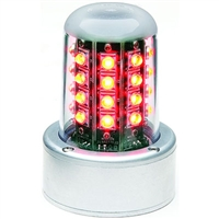 Whelen 01-0771080-04 Model 7108004 Red LED 28V Beacon (5 Hole Adapter, Flying Leads)