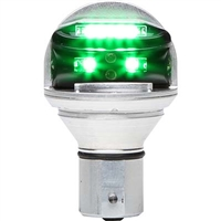 Whelen Chroma Series 01-0771900-G1 Model CHROMA1G Green LED 14V Plug & Play Position Lights