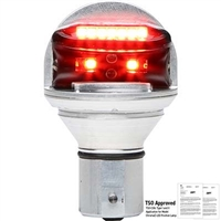 Whelen Chroma Series 01-0771900R14 Model CHROMA1R Red LED 14V Plug & Play Position Lights