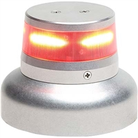 "Whelen 01-0772010-12 Model OR36R2W Red LED 28V Beacon (3.75"" Base)"