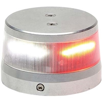 "Whelen 01-0772010-30 Model OR36S2N Red/White Split LED 28V Beacon (2.6"" Base)"