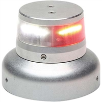 "Whelen 01-0772010-32 Model OR36S2W Red/White Split LED 28V Beacon (3.75"" Base)"