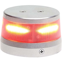 "Whelen 01-0772010-50 Model OR36R1N Red LED 14V Beacon (2.6"" Base)"