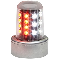 Whelen 01-0790520-01 Model 9052001 Red/White LED 28V Beacon (A470A Mount, FlyingLeads)