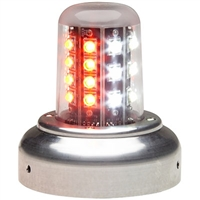 "Whelen 01-0790520-05 Model 9052005 Red/White LED 28V Beacon (3.75""Adapt, FlyingLeads)"