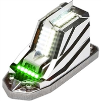Whelen Orion 650E Series 01-0790701-01 Model OR6501GE Green LED 14V Position Anti-Collision Light Assembly