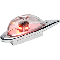 Whelen 01-0790724-17 Model 9072417 Red LED 28V Anti-Collision Light (Lower 5 Hole Mount) Cable Pigtail (9008817) 2 Lens Drain Holes (Hawkers)