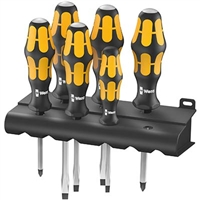 Wera 05018282001 Kraftform Plus 932/6 6 PC Screwdriver Set With Rack