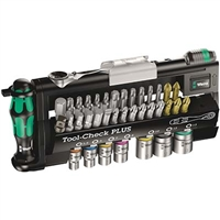 Wera 05056490001 36 PC Tool-Check Plus Bit Metric Ratchet Set With Sockets