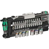 Wera 05056491001 39 PC Tool-Check Plus Bit SAE Ratchet Set With Sockets