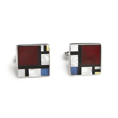 Mondrian Inlay Cufflinks