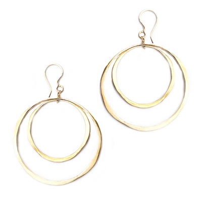 Gold Filled Large Double Hoop Earrings