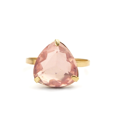 Large Faceted Gemstone 14k Gold Filled Ring + MORE COLORS