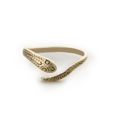 14K Gold Adjustable Snake Ring