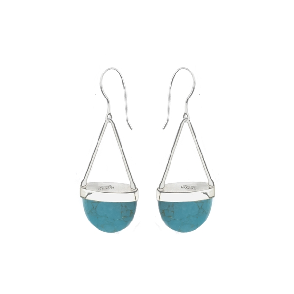 df1bfd7401 Long sterling silver drop earrings in labradorite
