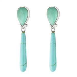 Teardrop Earring with Long Drop + MORE COLORS
