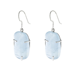 Prong Set Aquamarine Earrings