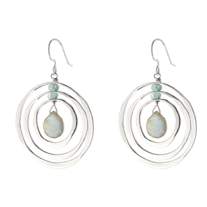 Faceted Circles Earrings + MORE COLORS