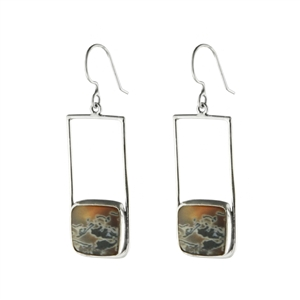 Retro Square Earrings + Stone Options