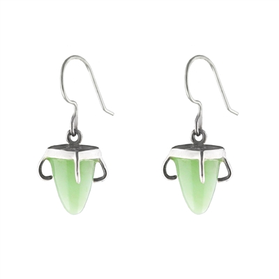 Chrysoprase Crown Earrings