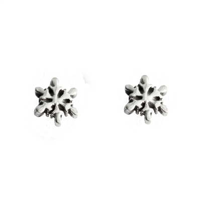 Tiny Snowflake Post Earrings