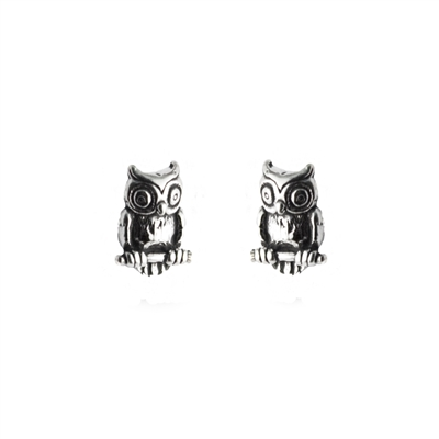 Tiny Owl Post Earrings