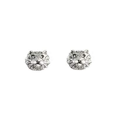 Tiny Cat Faces Post Earrings