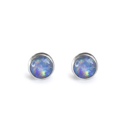 4mm bezel set stud earrings