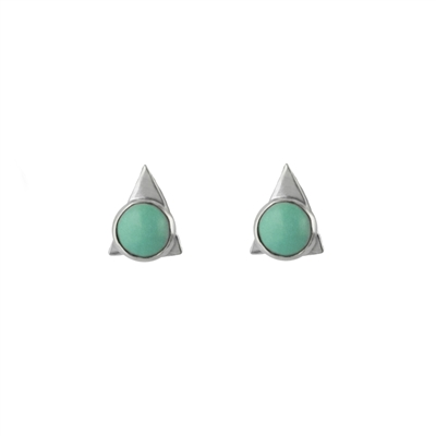 Tiny Triangle Gemstone Stud Earrings + MORE COLORS