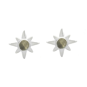 Tiny Star and Gemstone Stud Earrings + MORE COLORS