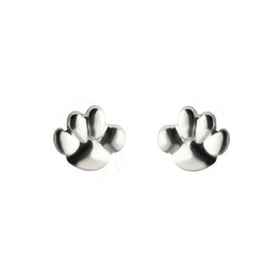 Tiny Paw Post Earrings