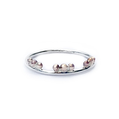 Tiara Petite Ring in Sterling and 14k GF