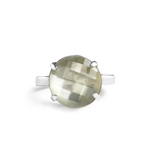Limited Edition Prong Set Grey Moonstone Ring